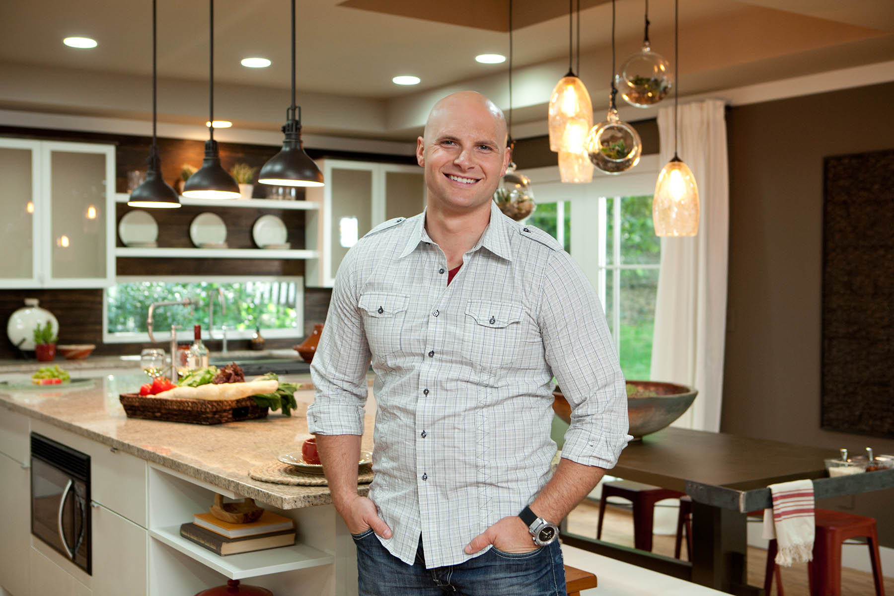 Superieur ATLANTA, GA: Licensed Contractor Chip Wade In The Newly Renovated Kitchen  And Living Room